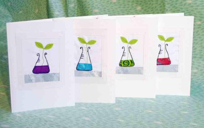 Cute conicals - science greeting cards