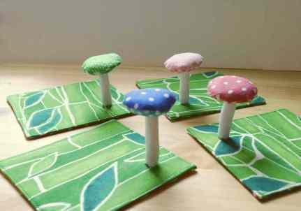 Mushroom coasters